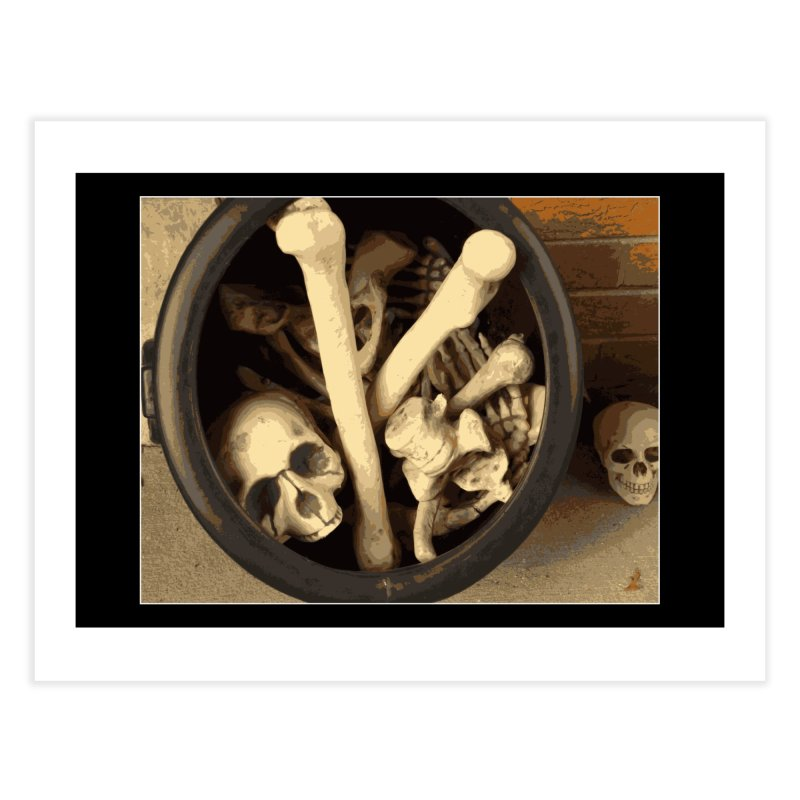Caldron of bones. Home Fine Art Print by some art worker