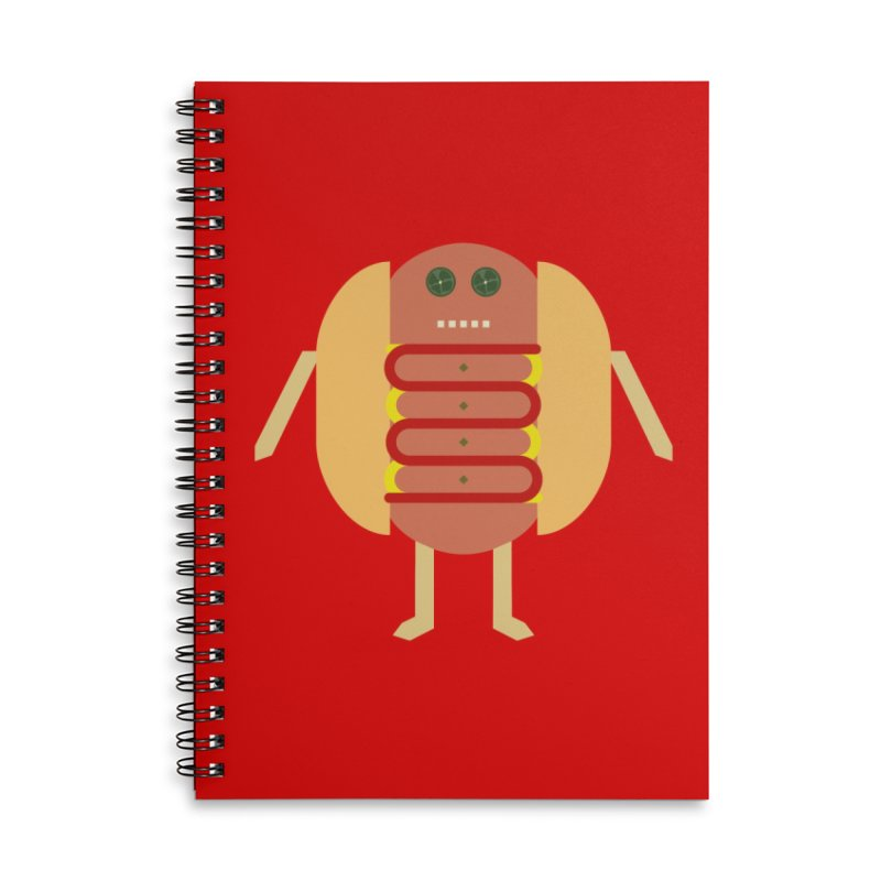 Stubby Lil Weenie Accessories Lined Spiral Notebook by some art worker