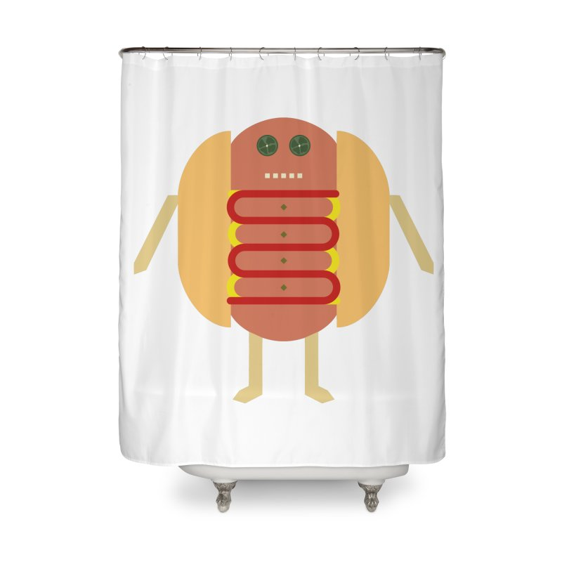 Stubby Lil Weenie Home Shower Curtain by some art worker