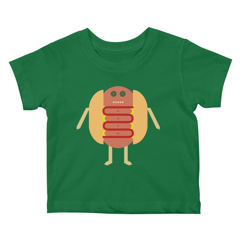 Stubby Lil Weenie Kids Baby T-Shirt by some art worker