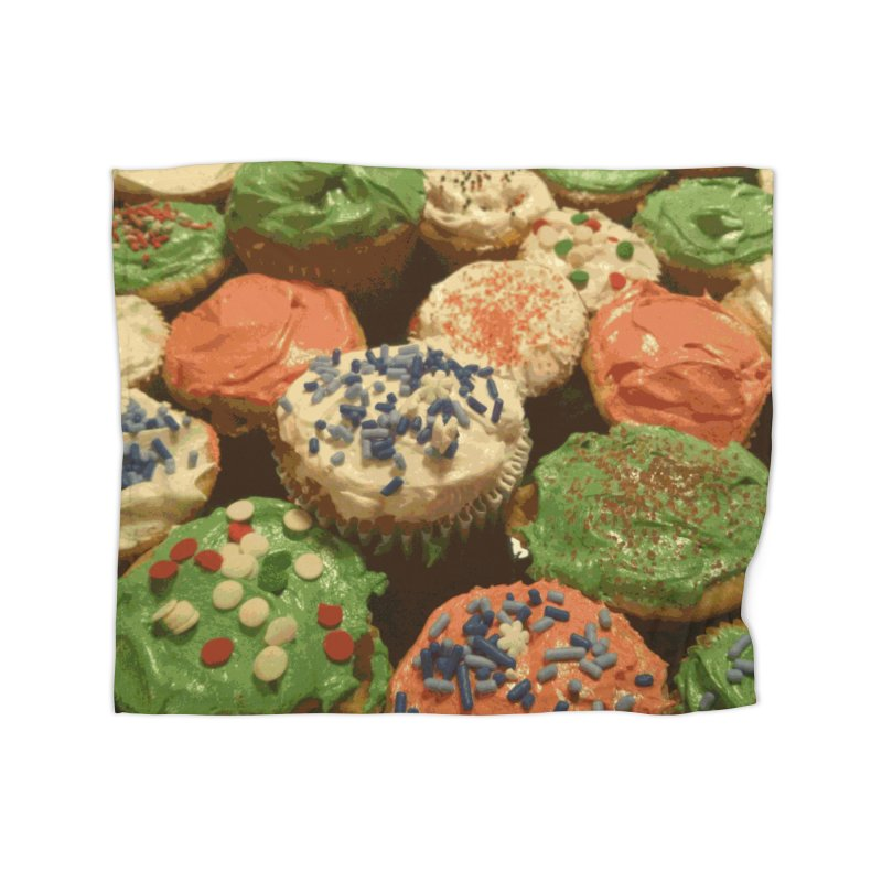 Christmas cupcakes with sprinkles Home Blanket by some art worker