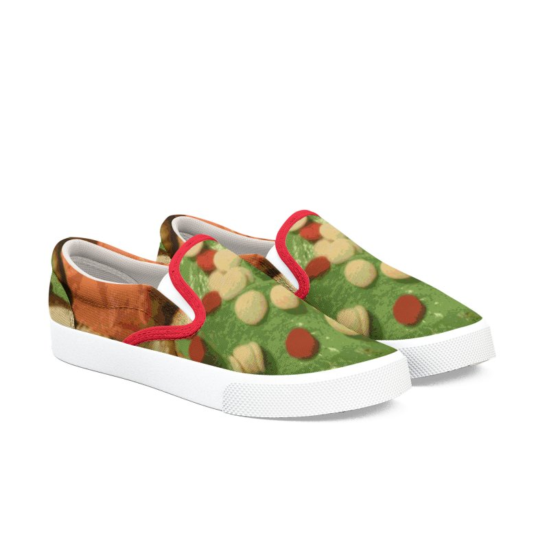 Christmas cupcakes with sprinkles Men's Slip-On Shoes by some art worker