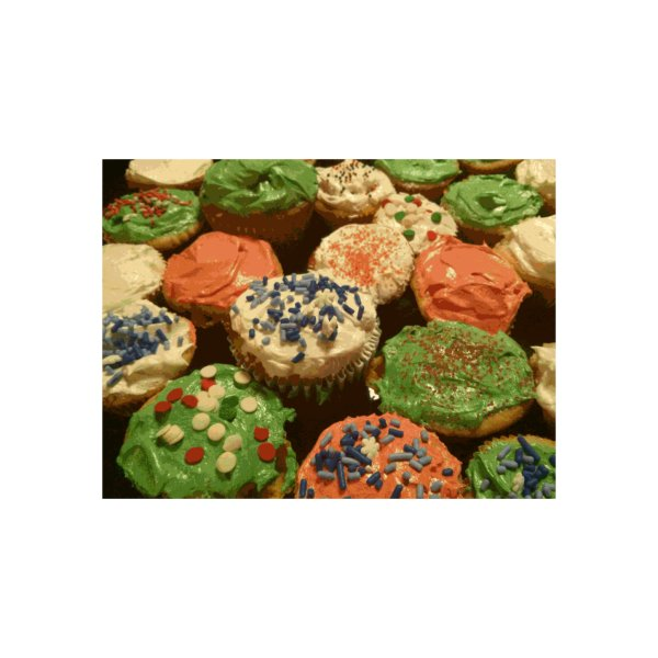 image for Christmas cupcakes with sprinkles