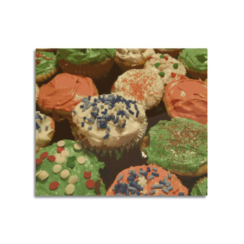 Christmas cupcakes with sprinkles Home Mounted Aluminum Print by some art worker