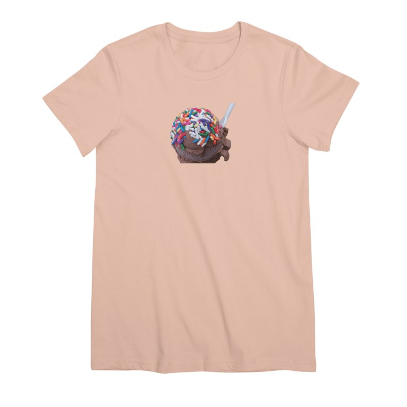 Warm Thoughts - Dark Chocolate Ice Cream with Rainbow Sprinkles Women's Premium T-Shirt by some art worker