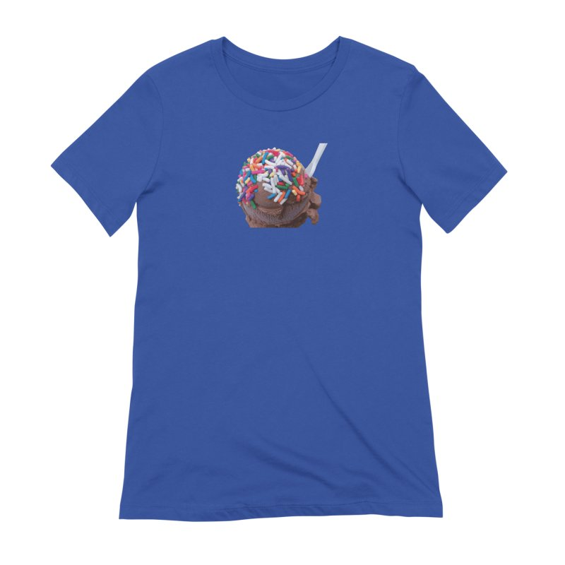 Warm Thoughts - Dark Chocolate Ice Cream with Rainbow Sprinkles Women's Extra Soft T-Shirt by some art worker