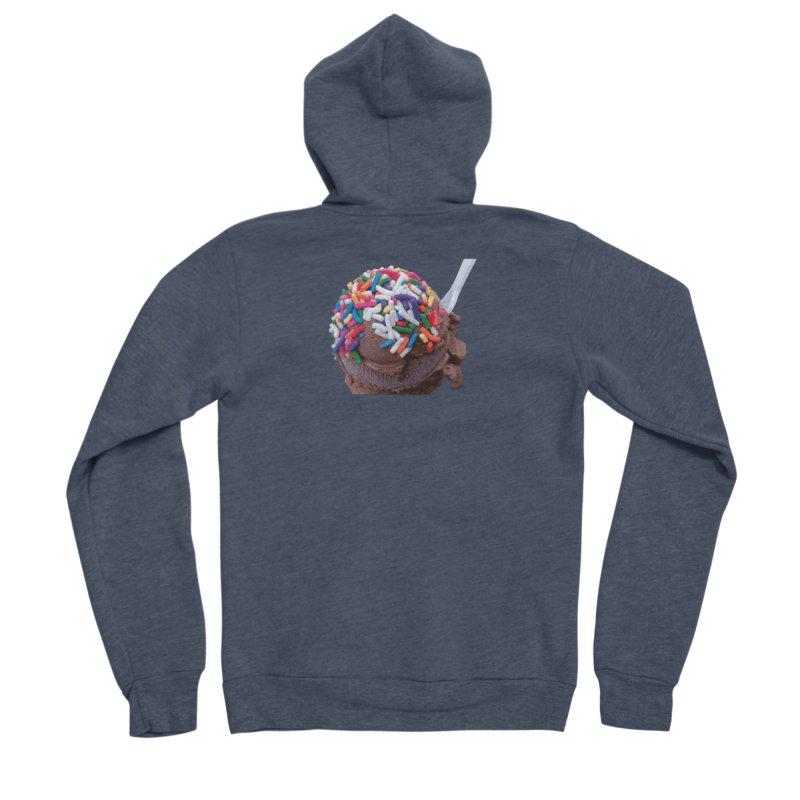 Warm Thoughts - Dark Chocolate Ice Cream with Rainbow Sprinkles Men's Sponge Fleece Zip-Up Hoody by some art worker