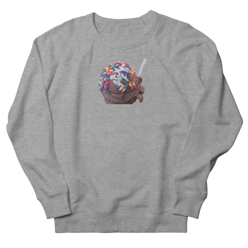 Warm Thoughts - Dark Chocolate Ice Cream with Rainbow Sprinkles Men's French Terry Sweatshirt by some art worker