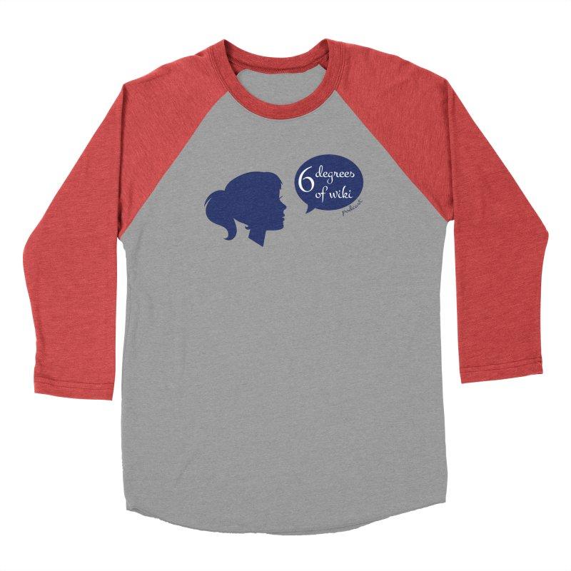 6 Degrees of Wiki podcast (blue logo) Men's Longsleeve T-Shirt by 6 Degrees of Wiki podcast