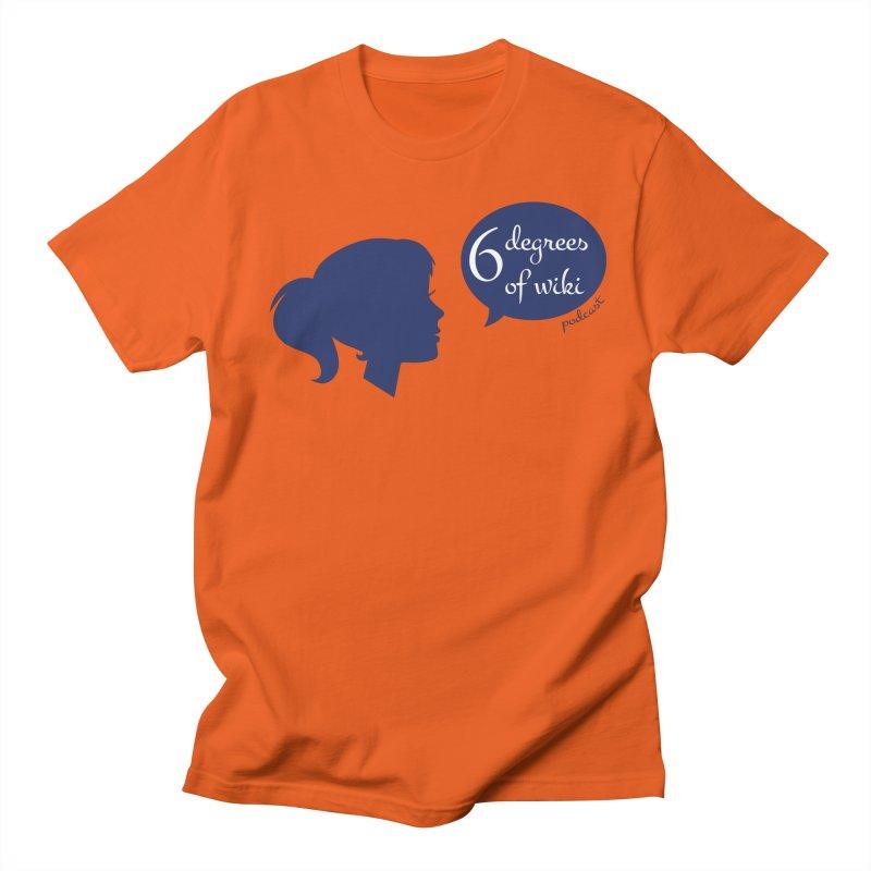 6 Degrees of Wiki podcast (blue logo) Men's T-Shirt by 6 Degrees of Wiki podcast
