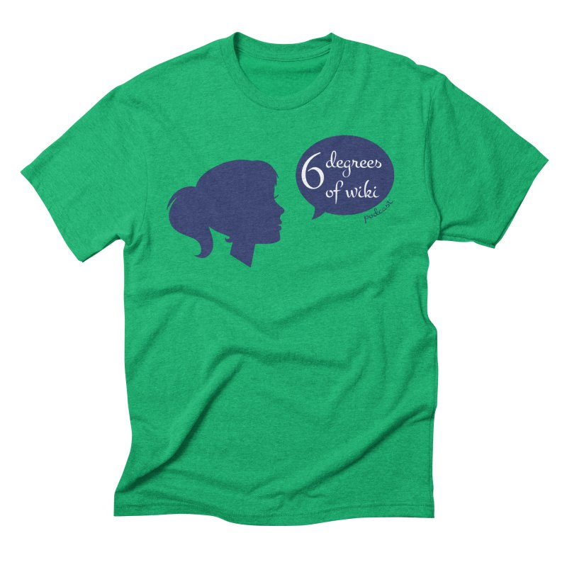 6 Degrees of Wiki podcast (blue logo) Men's Triblend T-Shirt by 6 Degrees of Wiki podcast