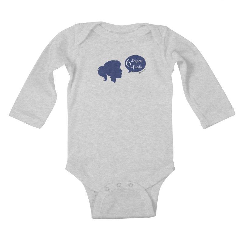 6 Degrees of Wiki podcast (blue logo) Kids Baby Longsleeve Bodysuit by 6 Degrees of Wiki podcast