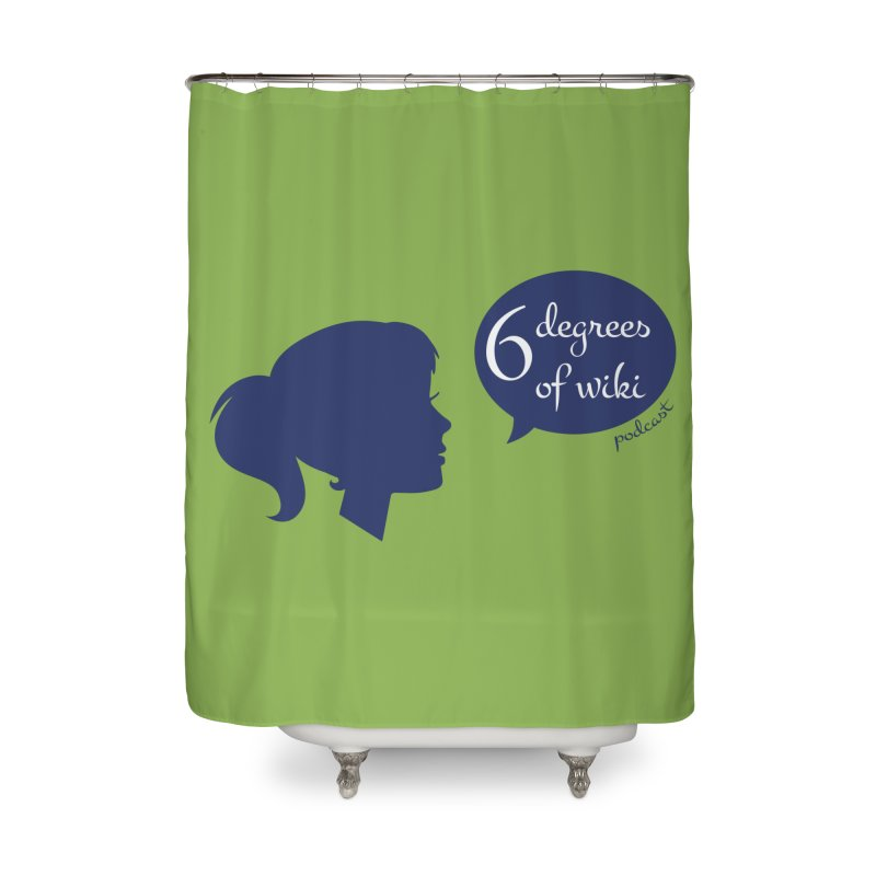 6 Degrees of Wiki podcast (blue logo) Home Shower Curtain by 6 Degrees of Wiki podcast