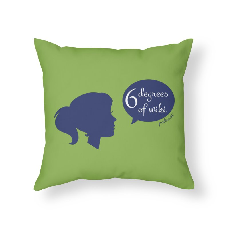 6 Degrees of Wiki podcast (blue logo) Home Throw Pillow by 6 Degrees of Wiki podcast