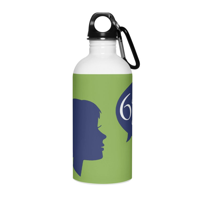 6 Degrees of Wiki podcast (blue logo) Accessories Water Bottle by 6 Degrees of Wiki podcast
