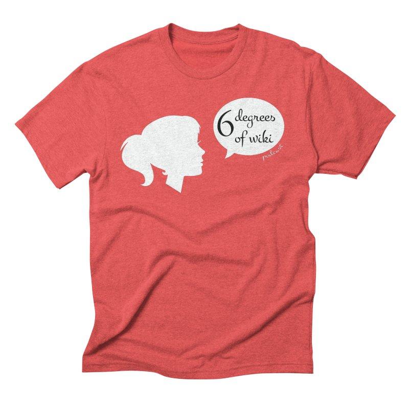 6 Degrees of Wiki podcast (white logo) Men's Triblend T-Shirt by 6 Degrees of Wiki podcast
