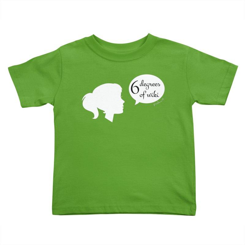 6 Degrees of Wiki podcast (white logo) Kids Toddler T-Shirt by 6 Degrees of Wiki podcast