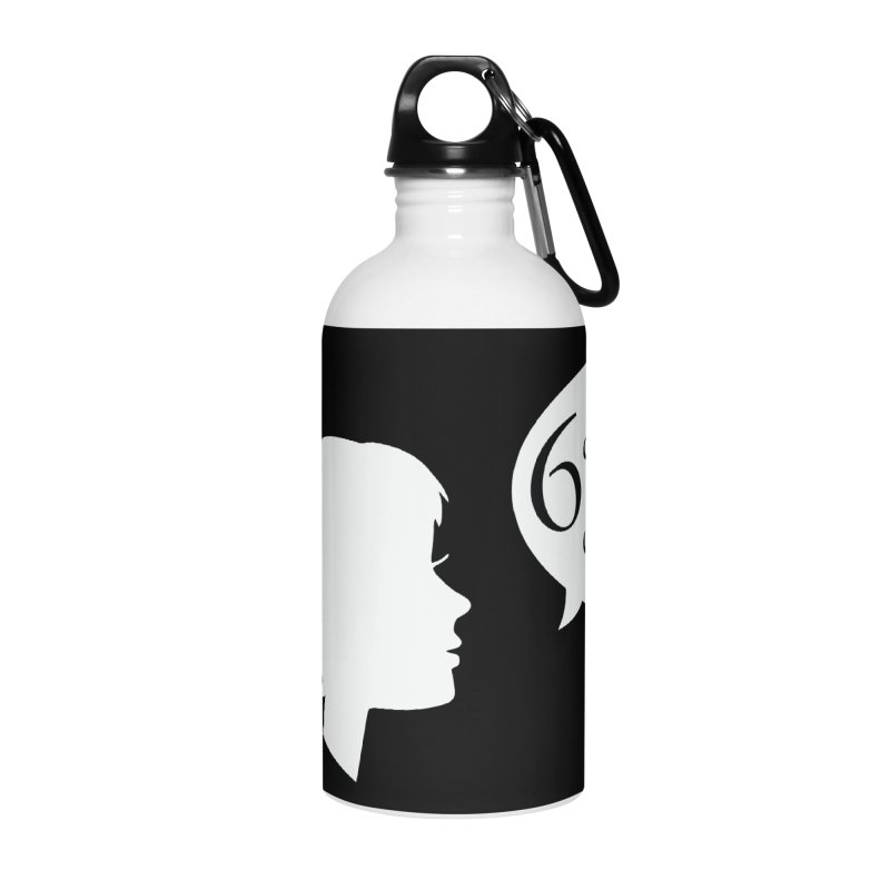 6 Degrees of Wiki podcast (white logo) Accessories Water Bottle by 6 Degrees of Wiki podcast