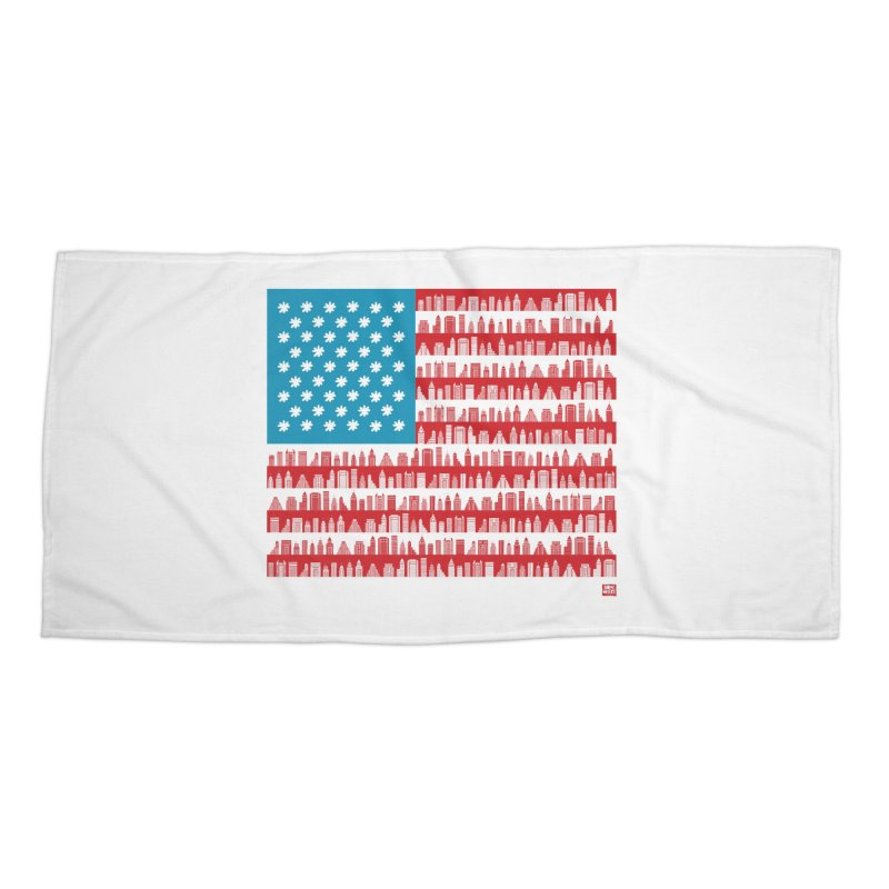 USA Accessories Beach Towel by SOMEWHERE by Tiago f Moura