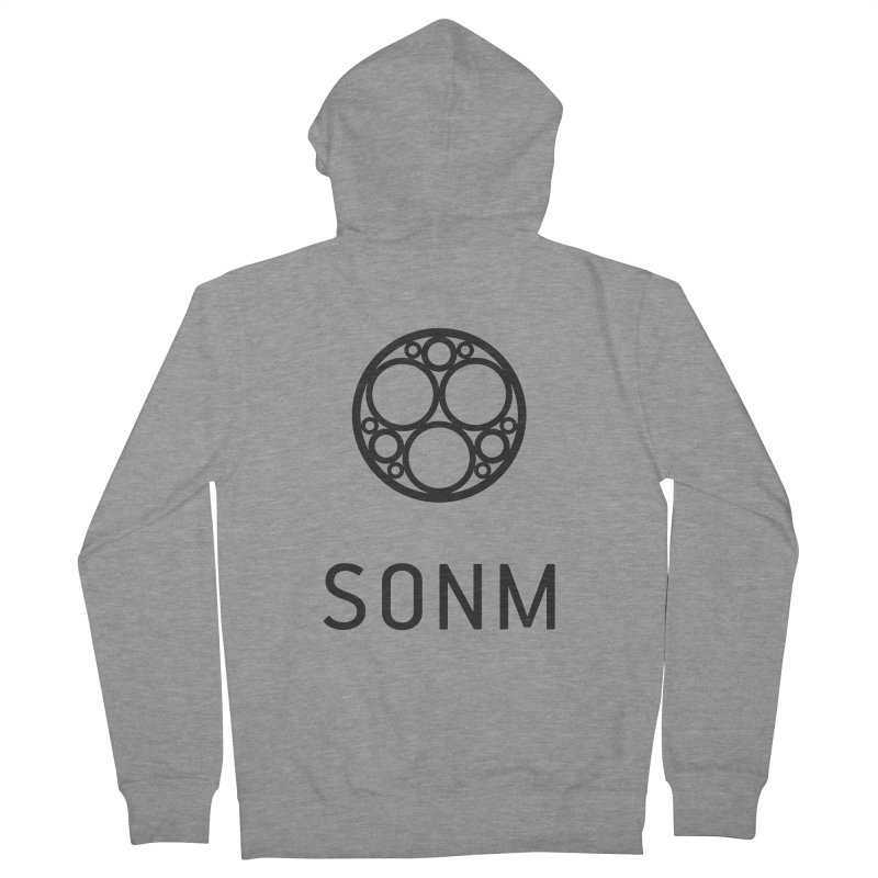 LOGO big Women's French Terry Zip-Up Hoody by SONM E-Shop