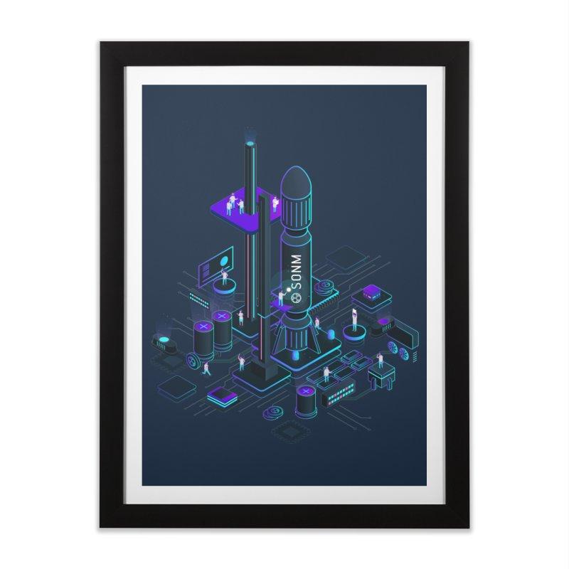 ROCKET Home Framed Fine Art Print by SONM E-Shop