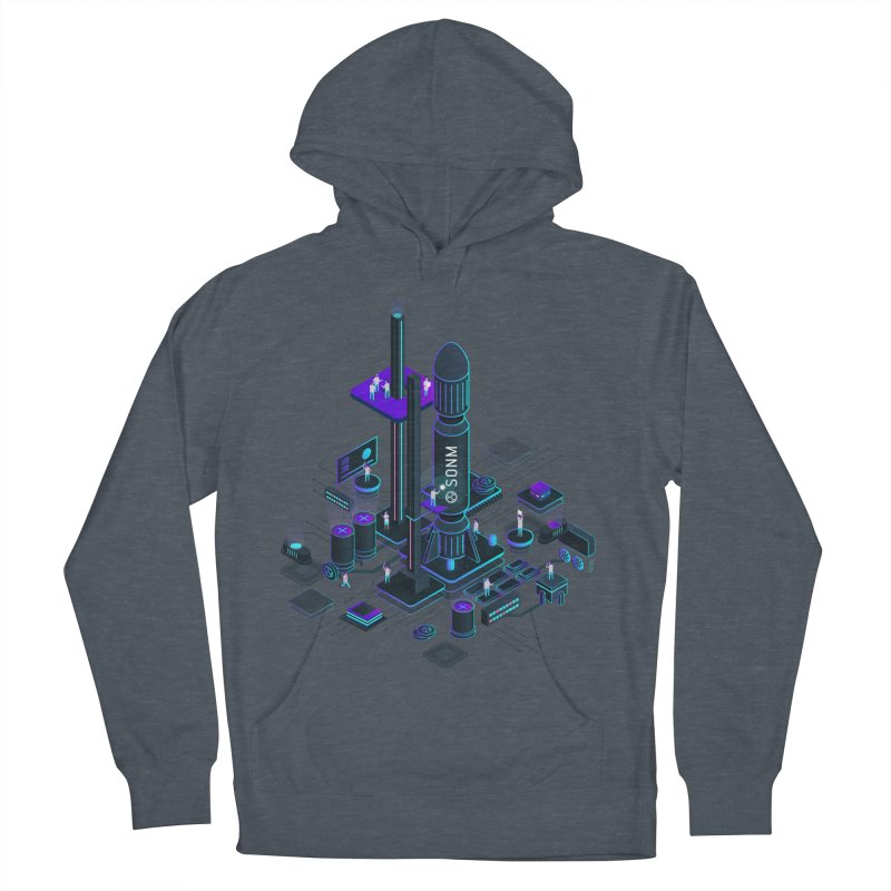 ROCKET Men's French Terry Pullover Hoody by SONM E-Shop