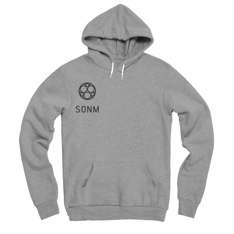LOGO small Men's Sponge Fleece Pullover Hoody by SONM E-Shop