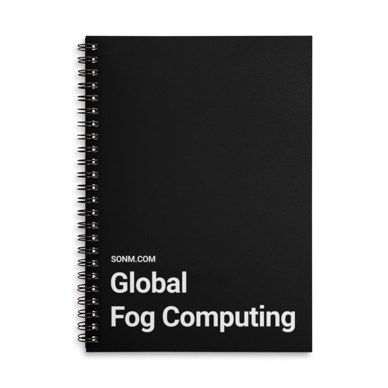 Global Fog Computing Accessories Lined Spiral Notebook by SONM E-Shop