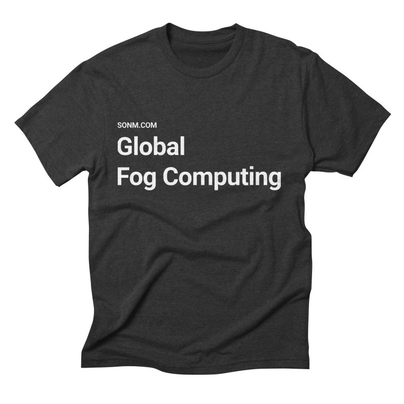 Global Fog Computing Men's Triblend T-Shirt by SONM E-Shop