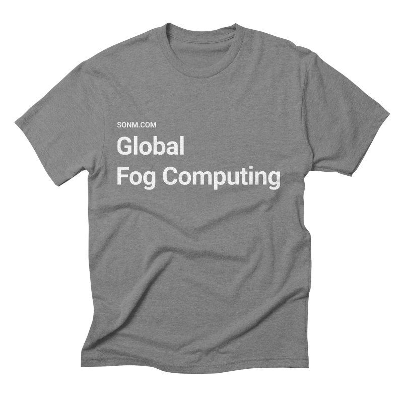 Global Fog Computing Men's Triblend T-Shirt by SONM E-Shop