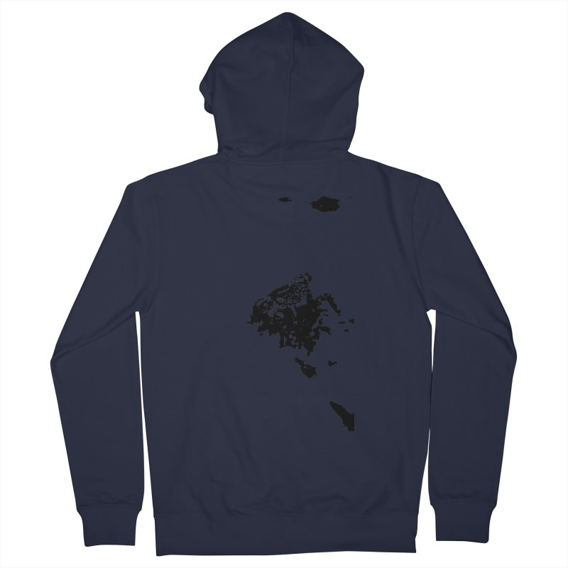 Frogs Bleed Black V1 Men's Zip-Up Hoody by sonofdod's Artist Shop