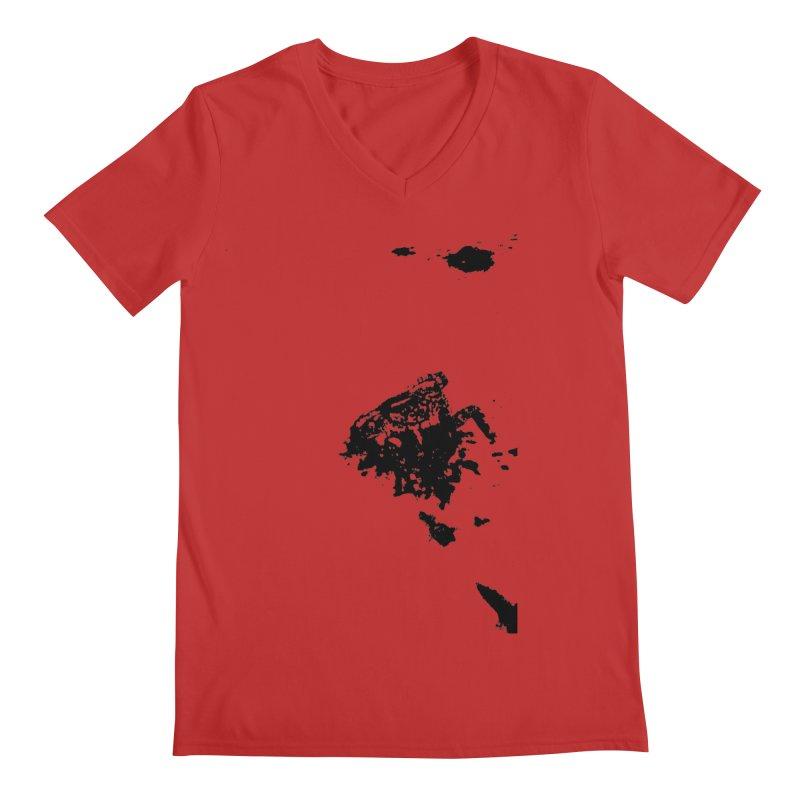 Frogs Bleed Black V1 Men's V-Neck by sonofdod's Artist Shop