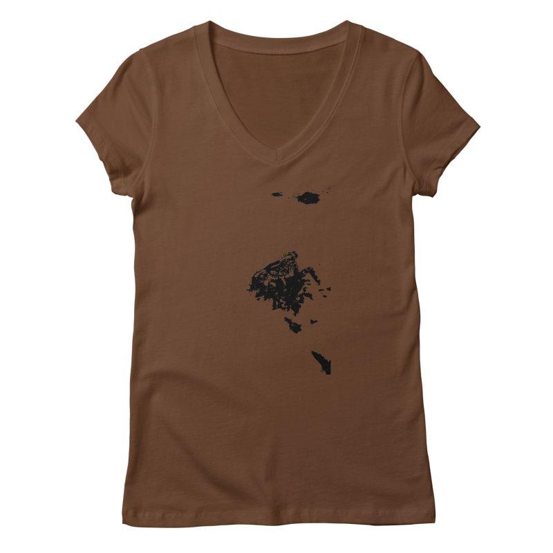 Frogs Bleed Black V1 Women's V-Neck by sonofdod's Artist Shop