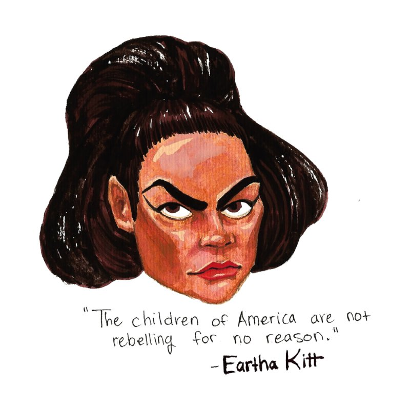 Eartha Kitt by Sophia Zarders