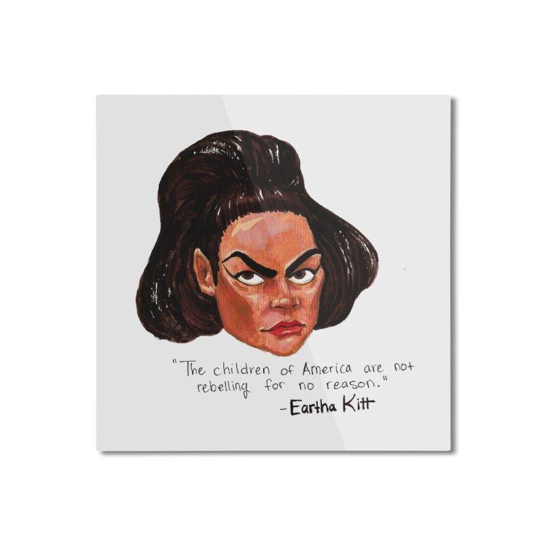 Eartha Kitt Home Mounted Aluminum Print by Sophia Zarders
