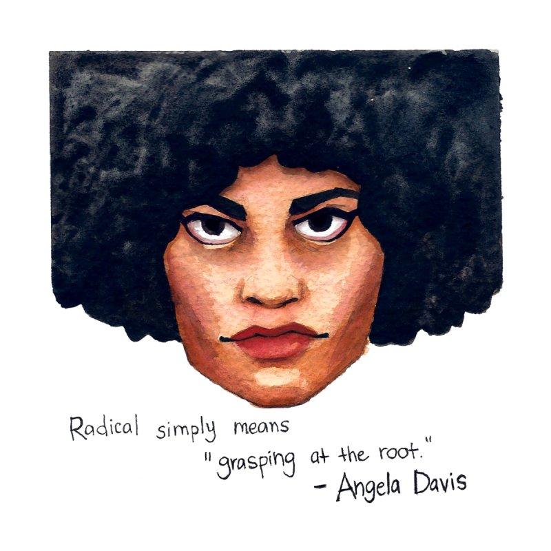 Angela Davis Men's T-Shirt by Sophia Zarders