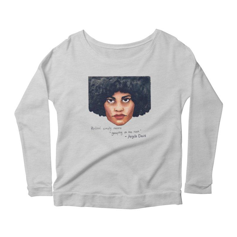 Angela Davis Women's Longsleeve T-Shirt by Sophia Zarders