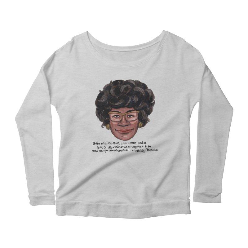 Shirley Chisholm Women's Longsleeve T-Shirt by Sophia Zarders