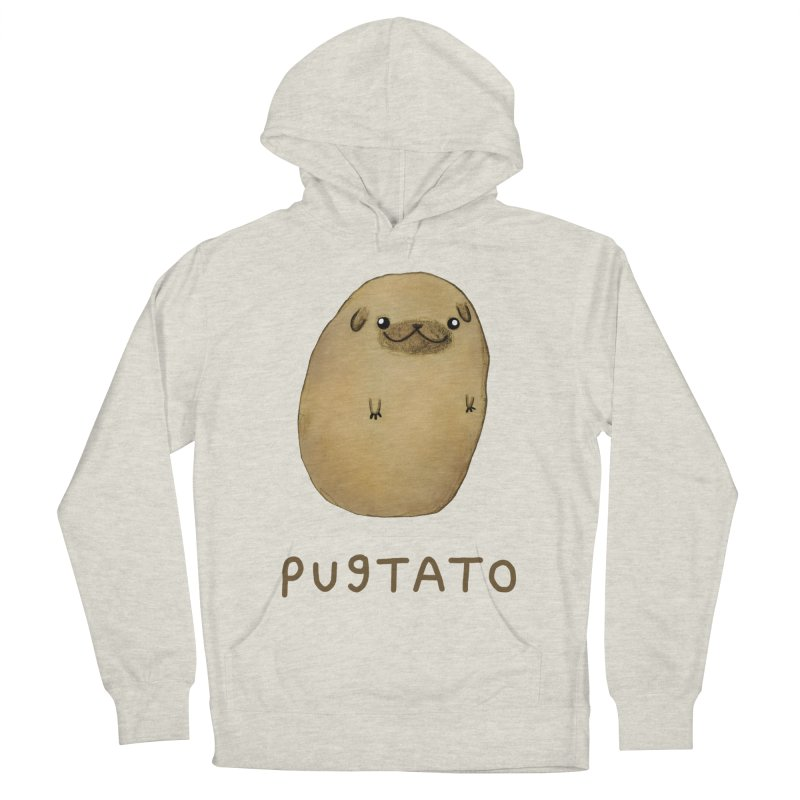 Pugtato Women's French Terry Pullover Hoody by Sophie Corrigan's Artist Shop