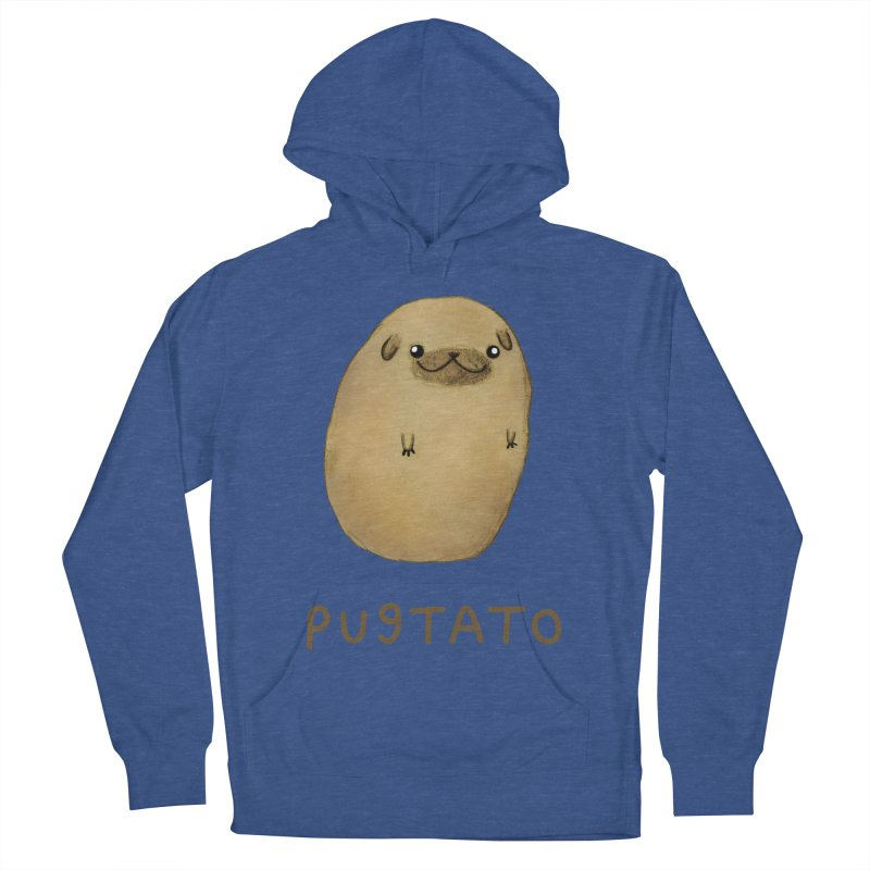 Pugtato Men's French Terry Pullover Hoody by Sophie Corrigan's Artist Shop