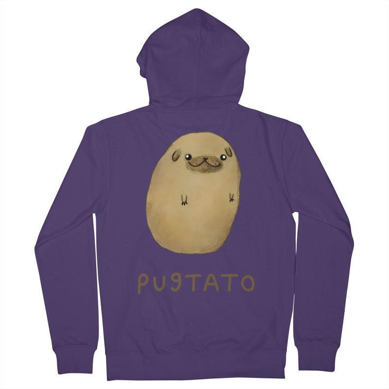 Pugtato Women's French Terry Zip-Up Hoody by Sophie Corrigan's Artist Shop