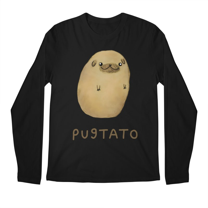 Pugtato Men's Regular Longsleeve T-Shirt by Sophie Corrigan's Artist Shop