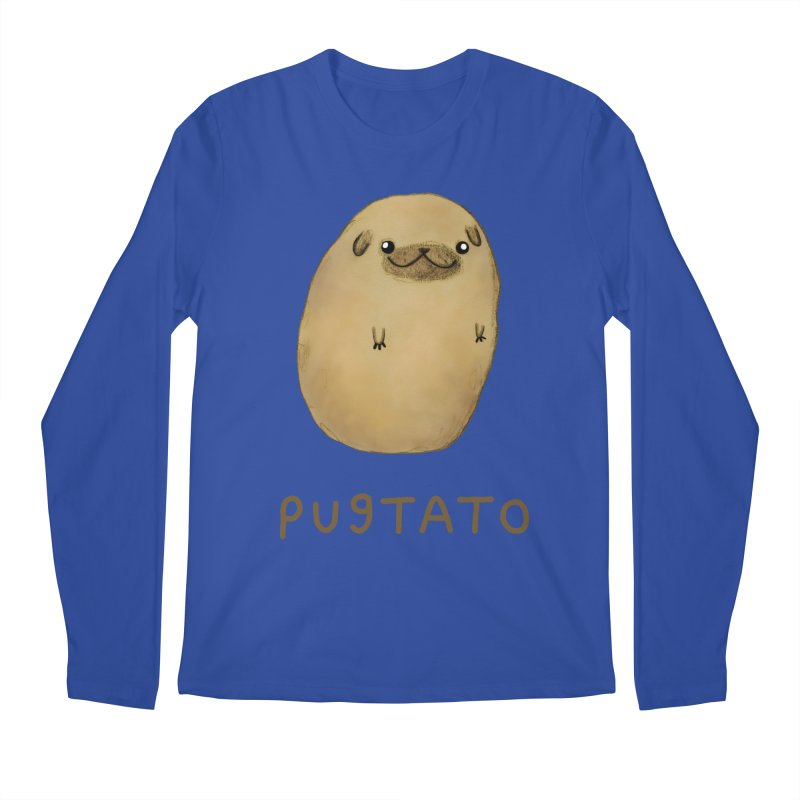 Pugtato Men's Longsleeve T-Shirt by Sophie Corrigan's Artist Shop