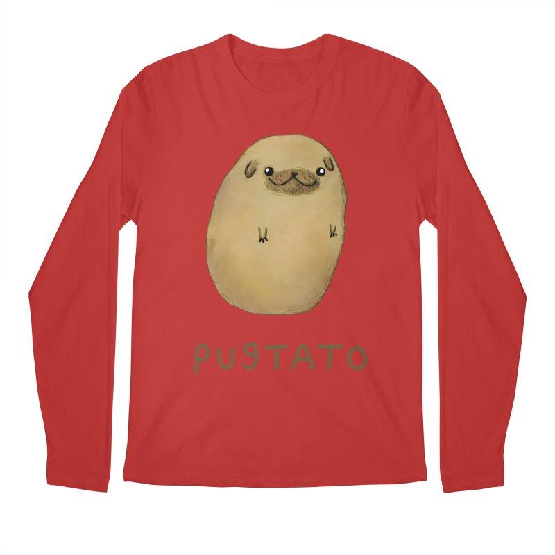 Pugtato Men's Regular Longsleeve T-Shirt by Sophie Corrigan's Artist Shop