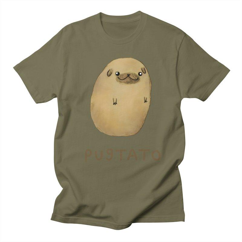 Pugtato Men's Regular T-Shirt by Sophie Corrigan's Artist Shop
