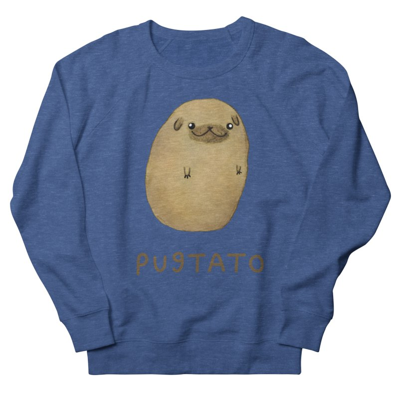 Pugtato Women's French Terry Sweatshirt by Sophie Corrigan's Artist Shop