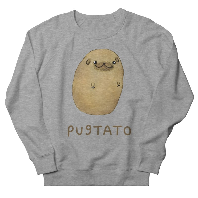 Pugtato Men's French Terry Sweatshirt by Sophie Corrigan's Artist Shop