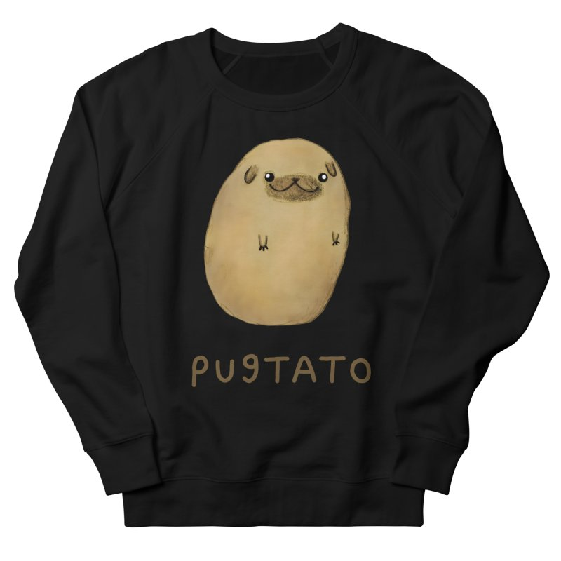 Pugtato Men's French Terry Sweatshirt by Sophie Corrigan's Artist Shop
