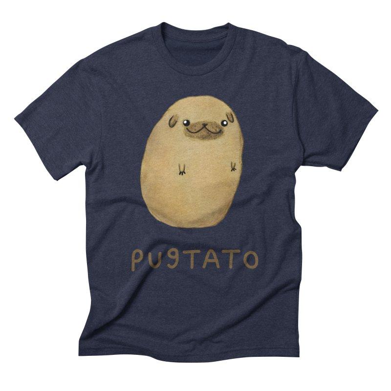 Pugtato Men's Triblend T-Shirt by Sophie Corrigan's Artist Shop