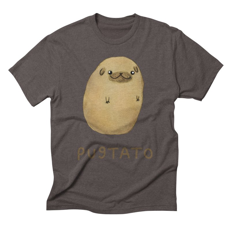 Pugtato Men's Triblend T-Shirt by Sophie Corrigan's Artist Shop